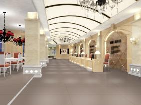 Integración pavimento restaurante