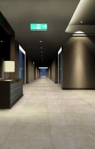 Integración pavimento en pasillo