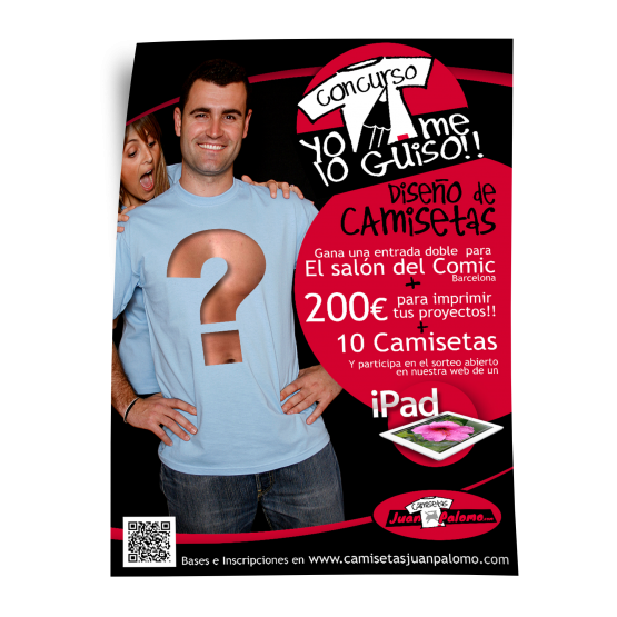 Cartel camisetas