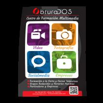 Cartel Centro de formación multimedia Obturados