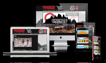 Diseño web gigante de piedra