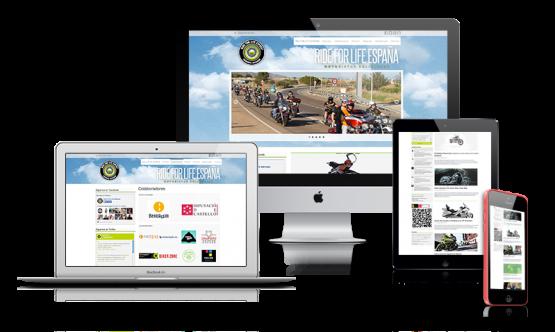 Diseño web Ride For Life Espeña