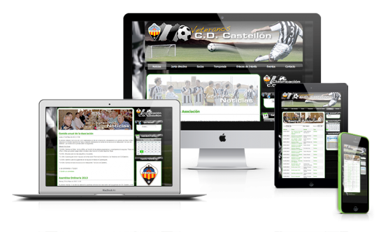 Diseño web Veteranos CD Castellón